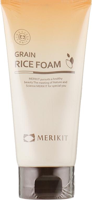 Очищающая рисовая пенка для лица - Merikit Grain Rice Foam