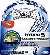 Парфумерія, косметика Змінні касети для гоління, 4 шт. - Wilkinson Sword Hydro 5 Groomer Power Select