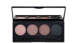 Духи, Парфюмерия, косметика Компактный набор пудр для бровей 4 оттенка - Make Up Me 4 color Eyebrow Powder