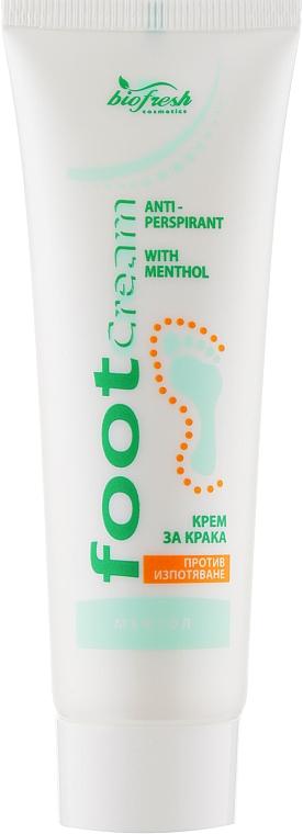 Крем-антиперспирант для ног против потения с ментолом - BioFresh Foot Cream
