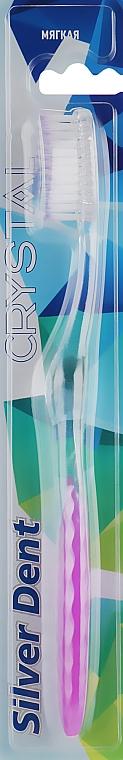 Зубная щетка, мягкая, прозрачно-фиолетовая - Modum Silver Dent Crystal