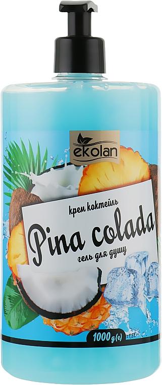 """Гель для душа, крем коктейль """"Pina colada"""" с дозатором - EkoLan"""