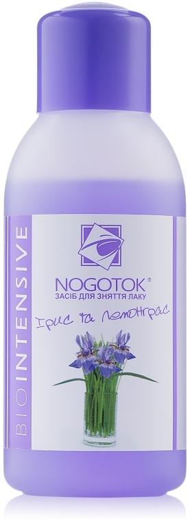 """Жидкость для снятия лака с ацетоном """"Ирис и лемонграсс"""" - Nogotok Biointensive"""