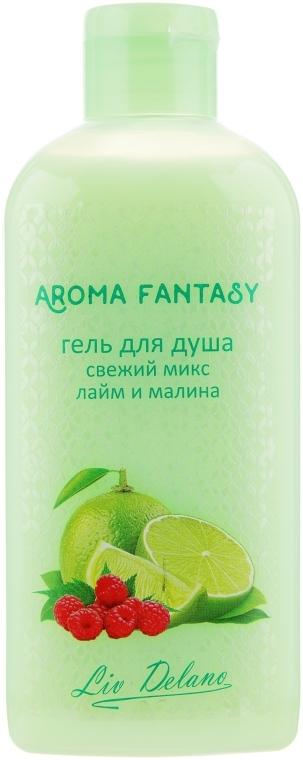 "Гель для душа ""Лайм и малина"" - Liv Delano Aroma Fantasy Bath Gel"