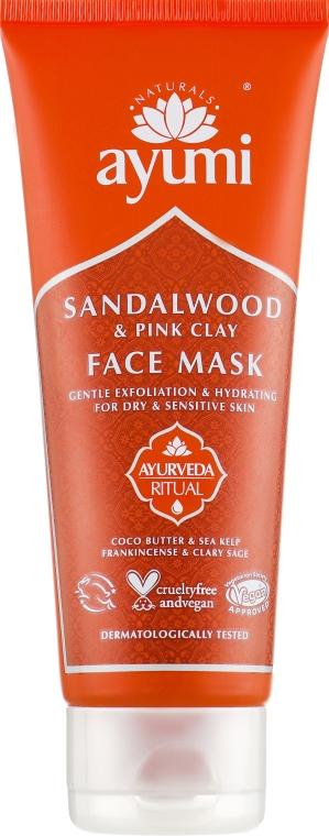 Маска для лица с сандаловым деревом и розовой глиной - Ayumi Sandalwood & Pink Clay Face Mask