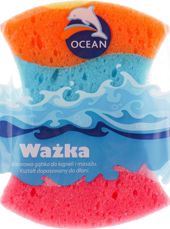 """Губка массажная для купания """"Wazka"""", разноцветная - Ocean"""