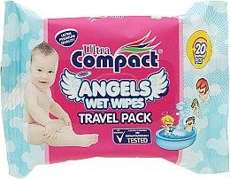 Духи, Парфюмерия, косметика Детские влажные салфетки - Ultra Compact Angels Wet Wipes Travel Pack