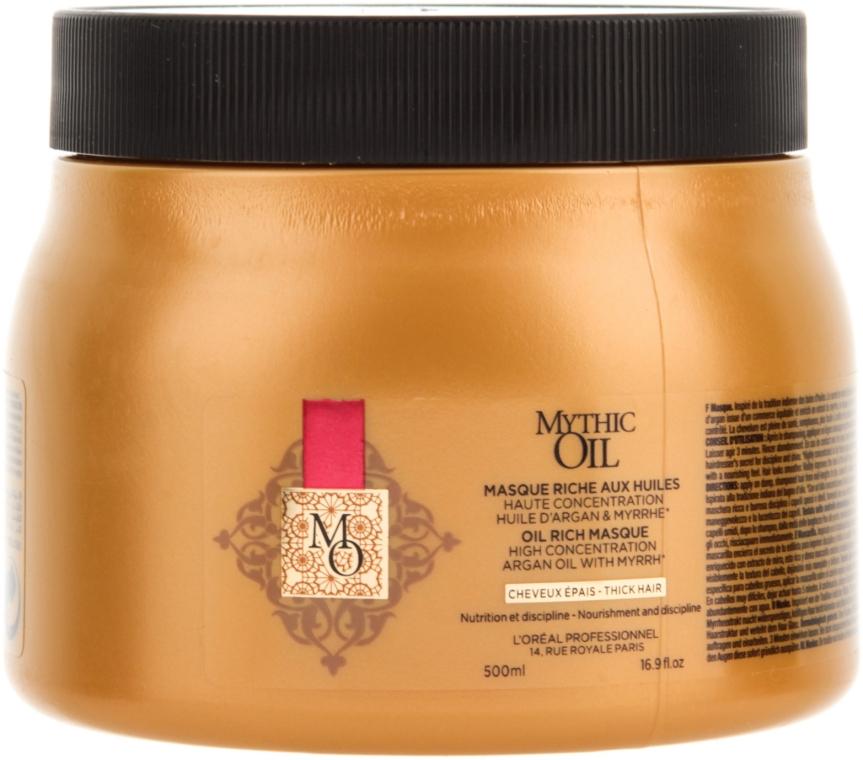 Питательная маска на основе масел для плотных волос - L'Oreal Professionnel Mythic Oil Rich Oil Masque