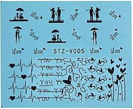 Парфумерія, косметика Водні наклейки для нігтів, STZV - Vizavi Professional