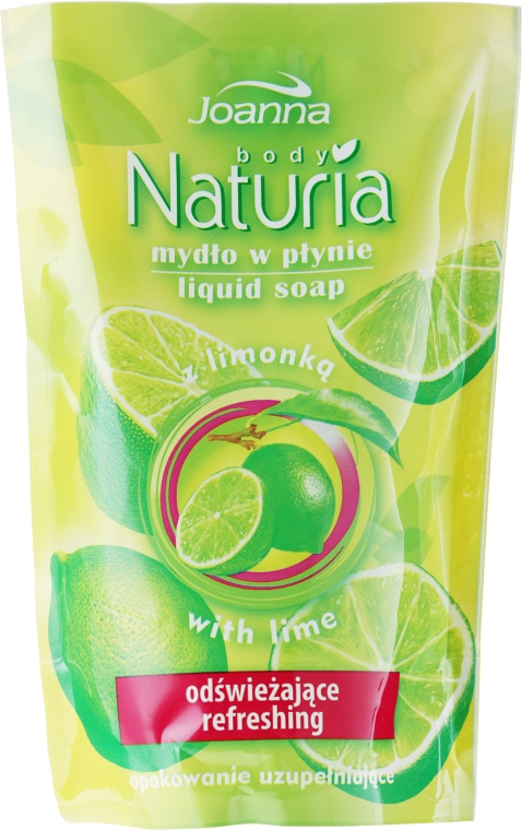 "Жидкое мыло ""Лайм"" - Joanna Naturia Body Lime Liquid Soap (Refill) — фото N1"