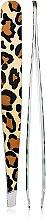 Духи, Парфюмерия, косметика Пинцет 9,5 см, 03724, принт тигр - Pollie Tweezer Animal Print
