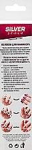 Духи, Парфюмерия, косметика Полоски-трафарет для французкого маникюра SFM-04 - Silver Style