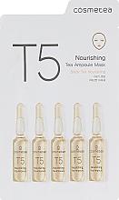 Духи, Парфюмерия, косметика Питательная тканевая маска с экстрактом черного чая - Cosmetea T5 Nourishing Tea Ampoule Mask
