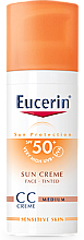 Духи, Парфюмерия, косметика CC Крем - Eucerin CC-creme Sunscreen for face SPF 50+