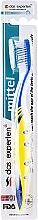 Духи, Парфюмерия, косметика Зубная щетка средней жесткости, сине-желтая - Das Experten