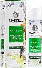 """Духи, Парфюмерия, косметика Крем для лица дневной """"Снежный гриб"""" для жирной и комбинированной кожи - Markell Cosmetics Skin&City Face Cream"""