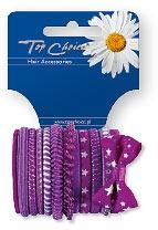 Резинки для волос 12шт, фиолетовые, 22036 - Top Choice