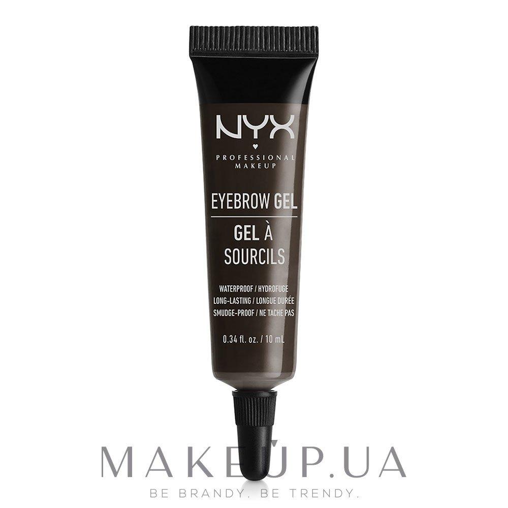 Гель для бровей - NYX Professional Makeup Eyebrow Gel — фото Black