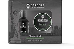 Духи, Парфюмерия, косметика Набор - Barbers New York (beard/oil/30ml + beard/balm/50ml)