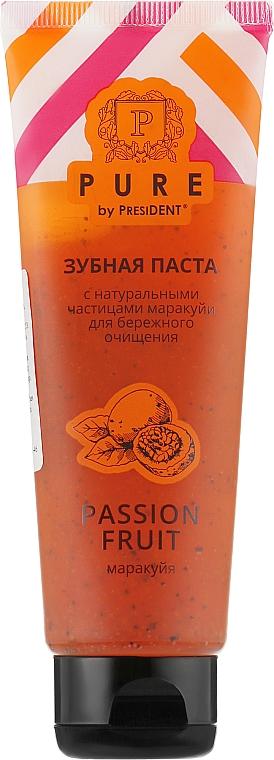 Зубная паста с натуральными частицами маракуйи - PURE by PresiDENT Toothpaste Passion Fruit