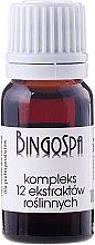 Духи, Парфюмерия, косметика Комплекс из 12 растительных экстрактов - BingoSpa Complex Of 12 Plant Extracts
