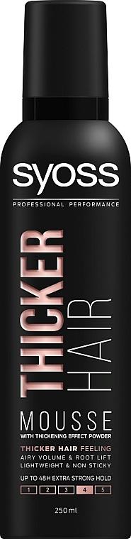 Пена-мусс для волос с волокнами для утолщения волос экстрасильной фиксации - Syoss Thicker Hair Mousse 4