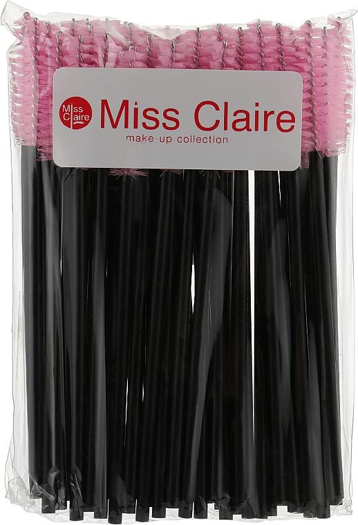 Одноразовые щеточки для ресниц и бровей, розовые - Miss Claire