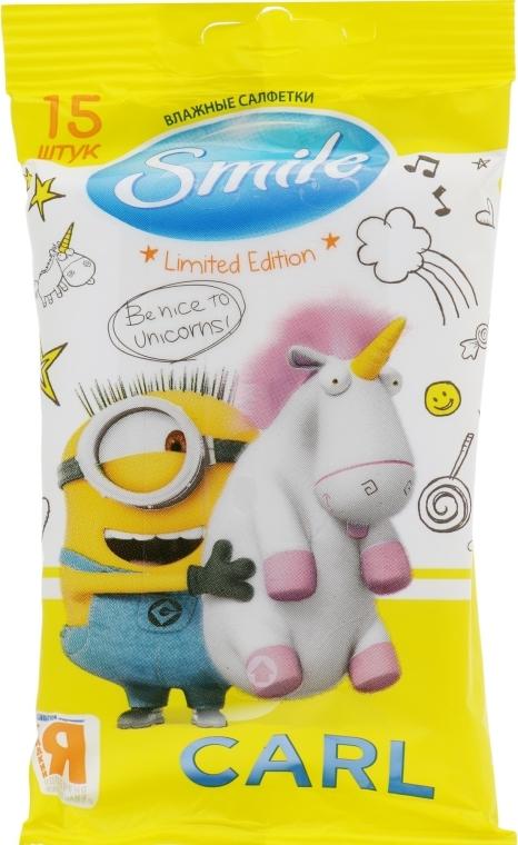 Влажные салфетки Minions 15шт, Carl-2 - Smile Ukraine Baby