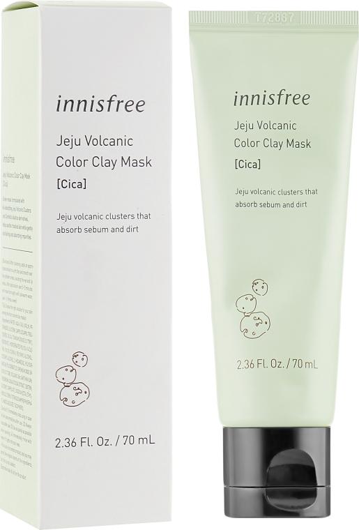 Маска для лица с вулканической глиной - Innisfree Volcanic Color Clay Mask Cica Green
