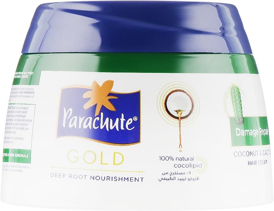 Крем для восстановления поврежденных волос с экстрактом кактуса - Parachute Gold Hair Cream