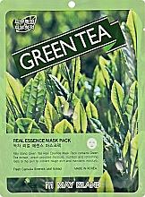 Духи, Парфюмерия, косметика Маска для проблемной кожи с зеленым чаем - May Island Real Essence Green Tea Mask Pack