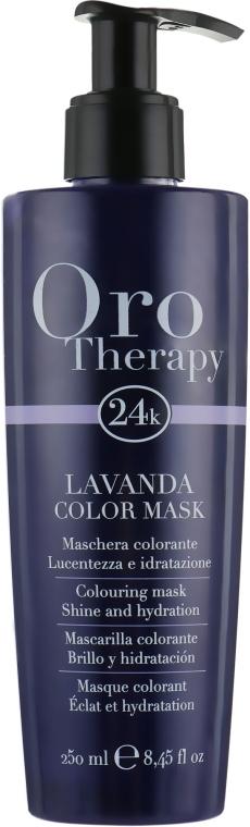 "Тонирующая маска для волос ""Лаванда"" - Fanola Oro Therapy Colouring Mask"