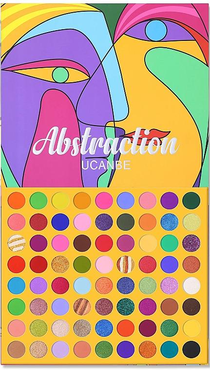 Палетка теней для век, 72 оттенков - Ucanbe 72 Color Abstraction Eyeshadow Palette