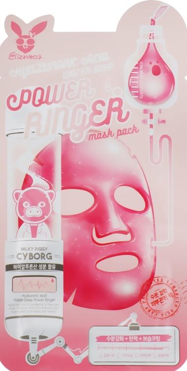 Увлажняющая тканевая маска с гиалуроновой кислотой - Elizavecca Hyaluronic Acid Water Deep Power Ringer Mask Pack