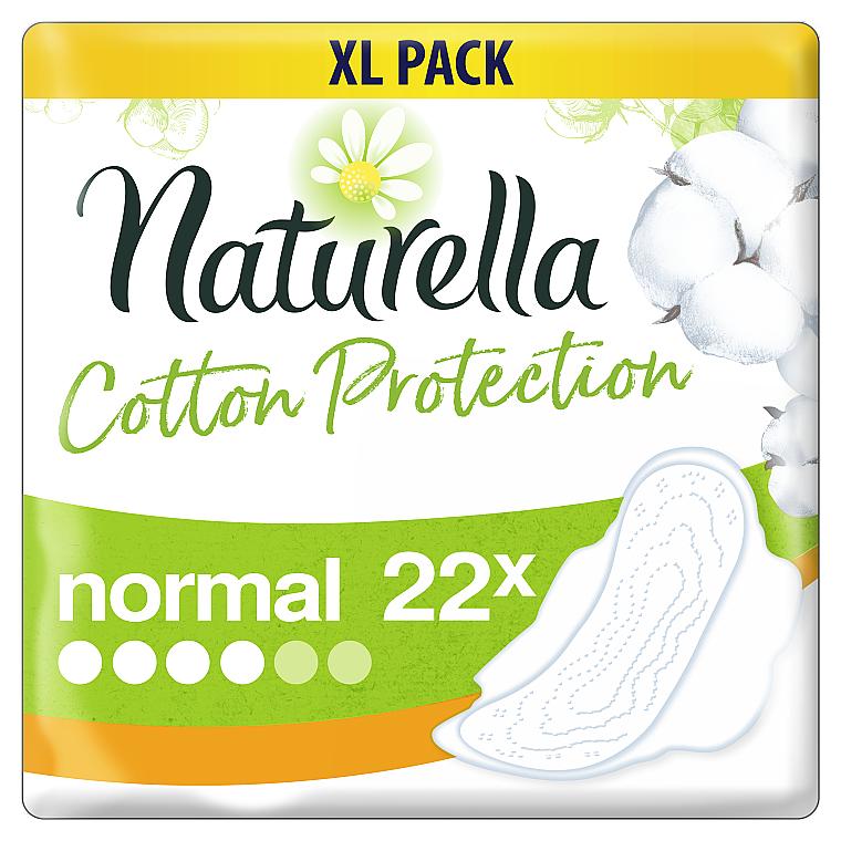 Гигиенические прокладки с крылышками, 22 шт - Naturella Cotton Protection Ultra Normal