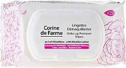 Духи, Парфюмерия, косметика Салфетки влажные для снятия макияжа - Corine de Farme Wipes