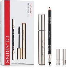 Духи, Парфюмерия, косметика Набор (eye/pencil/1.2g + mascara/8ml) - Clarins Smoky Eye Kit