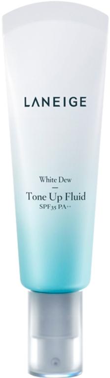 Осветляющий флюид для лица - Laneige White Dew Tone-Up Fluid SPF35 PA++