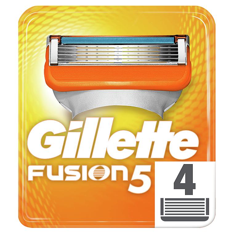 Сменные кассеты для бритья, 4 шт. - Gillette Fusion