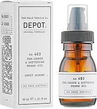 Духи, Парфюмерия, косметика Масло для смягчения бороды - Depot Shave Specifics 403 Pre-Shave & Softening Beard Oil