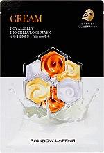 Духи, Парфюмерия, косметика Маска для лица с маточным молочком - Rainbow L'Affair Royal Jelly Bio Cellulose Mask