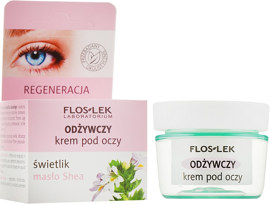 Питательный крем для глаз с маслом ши - Floslek