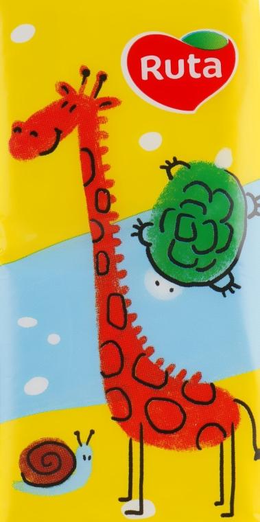 "Носовые платки ""Детские"" 10 шт., жираф - Ruta Family Pack"