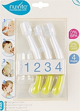 """Духи, Парфюмерия, косметика Набор по уходу за зубами """"Baby Dental Kit 4 in 1"""", 0 мес.+, салатовый - Nuvita"""