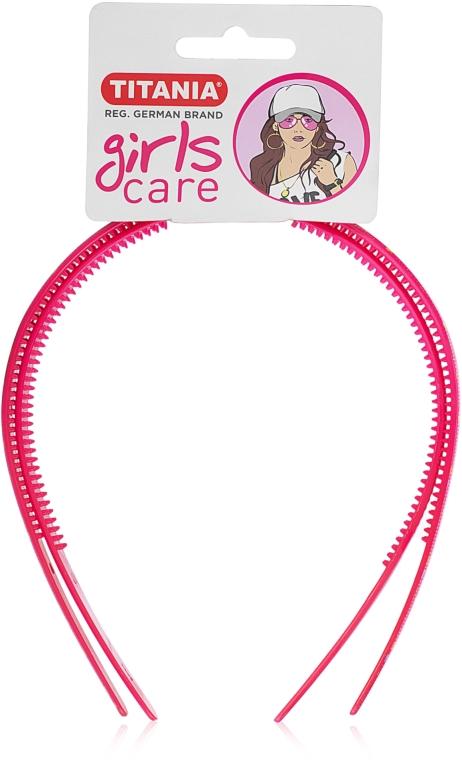 """Обруч для волос пластмассовый """"Girls Care"""", маленький, 2шт., розовый - Titania"""