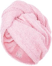 Полотенце-тюрбан для сушки волос, пудровое - MakeUp — фото N2