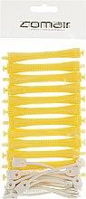 Духи, Парфюмерия, косметика Бигуди для холодной завивки, с круглой резинкой, жёлтые, d8 - Comair