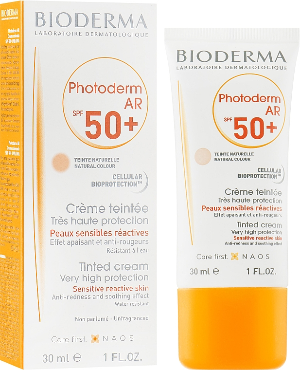 Солнцезащитный крем - Bioderma Photoderm AR Spf 50+ Tinted Sun Cream