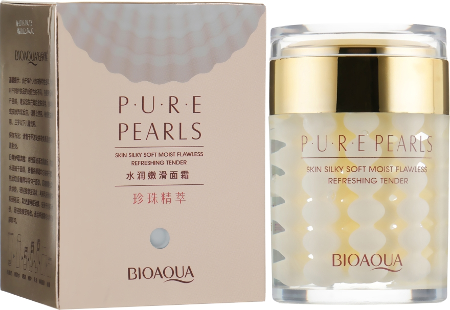 Увлажняющий крем с натуральной жемчужной пудрой - Bioaqua Pure Pearls Cream