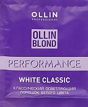 Духи, Парфюмерия, косметика Осветляющий порошок белого цвета - Ollin Professional Perfomance White Classic